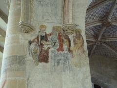 Eglise Saint-Léger - Français:   L\'église Saint-Léger est l\'une des trois églises de la commune de Monthermé et est dédiée à  Saint-Léger , ici la fresque La Vierge au milieu des Apôtres.