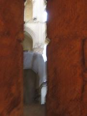 Eglise abbatiale Notre-Dame - Vue de l'interieur de la recluserie Abbatiale Mouzon Ardennes France