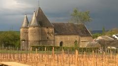 Eglise de Servion - Français:   Eglise fortifiée de Rouvroy sur Audry jour d\' orage