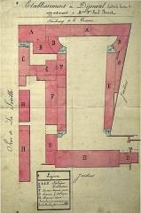 Ancienne manufacture royale de draps dite le Dijonval - Français:   sur une vue ancienne.