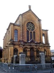 Synagogue - Français:   Synagogue de Sedan  -Département des Ardennes-, construite en 1878 après la guerre franco-allemande de 1870 et de la venue des réfugiés de confession juive d\'Alsace et de Moselle,  régions annexées par  l\'Empire Allemand  et proches des Ardennes françaises.
