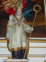 Eglise - English: Église Saint-Nicolas de Signy-le-Petit, statue