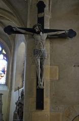 Eglise - Français:   Christ en croix du XVe siècle en l\'église de Tournes.