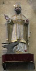Eglise - Français:   statue d\'Eloi .