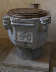 Eglise - Français:   Fonts baptismaux  en l\'Église Saint-Martin de Tournes.