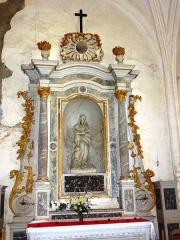 Eglise - English: Viel-Saint-Rémy (Ardennes) autel avec statue Vierge et Enfant