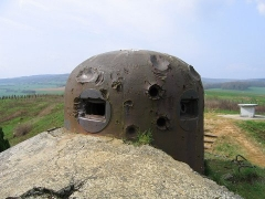 Fortifications de la ligne Maginot dites Ouvrages de la Ferté - Français:   Cloche GFM de l\'ouvrage de la Ferté