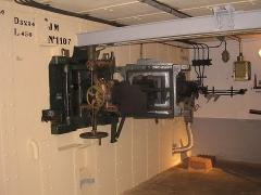 Fortifications de la ligne Maginot dites Ouvrages de la Ferté - Français:   La chambre de tir du bloc 1 de l\'ouvrage de La Ferté