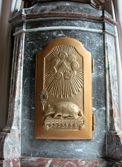 Eglise Saint-Maurille -  Eglise Saint-Maurille, Vouziers, Ardennes.Un tabernacle.