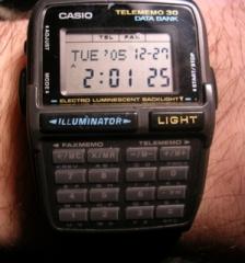 Eglise -  A Casio Databank calculator watch.