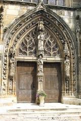 Eglise Saint-Trésain - English: Avenay-Val-d'Or, church Saint Trésain, portal