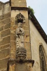 Eglise Saint-Trésain - English: Avenay-Val-d'Or, church Saint Trésain, statue