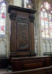 Cathédrale Saint-Etienne - English:  Châlons-en-Champagne, cathedral Saint-Étienne, wooden relief
