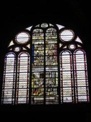 Eglise Saint-Alpin - Église Saint-Alpin de Châlons-en-Champagne (Marne, France), vitrail: multiplication des pains, noces de Cana