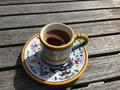 Marché couvert - English: Bill's Turkish coffee, all that was promised and more!