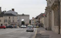 Porte Sainte-Croix - English: Châlons-en-Champagne, the Rue Carnot, southern part