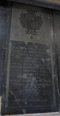 Eglise Notre-Dame-du-Soldat - Français:   gisant de Maurice Henri Du Val, comte de Dampierre baron de Hans.