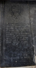 Eglise Notre-Dame-du-Soldat - Français:   Gisant de Iean Armand du Valk, comte de Dampierre baron de Han seigneur de Sombiong et de Maigneux .