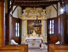 Eglise - Deutsch: Chor der Kirche St. Nikolaus, Outines, Département Marne, Region Champagne-Ardenne (heute Großer Osten), Frankreich