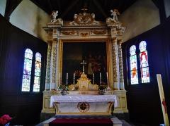 Eglise - Deutsch: Hochaltar der Kirche St. Nikolaus, Outines, Département Marne, Region Champagne-Ardenne (heute Großer Osten), Frankreich