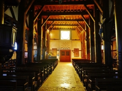 Eglise - Deutsch: Langhaus der Kirche St. Nikolaus, Outines, Département Marne, Region Champagne-Ardenne (heute Großer Osten), Frankreich