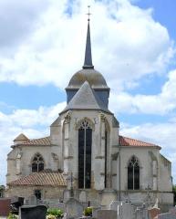 Eglise de la Nativité de la Vierge - Français:   Pogny - Eglise de la Nativité-de-la-Vierge - Chevet