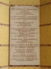 Bibliothèque Carnégie - English: Carnegie Library in Rheims, France