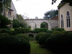 Hôtel Le Vergeur - Musée-hôtel Le Vergeur à Reims (Marne, France), les jardins vus depuis la place du Forum