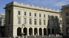 Hôtel des postes - Français:   vue de la Poste Cérès, façade donnant sur la place Royale.