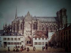 Immeuble - vue de Cour du chapitre cathédrale