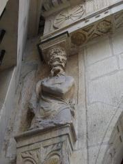 Maison natale de Jean-Baptiste de la Salle - Français:   Hôtel Jean-Baptiste de La Salle à Reims (Marne, France), caryatide droite du portail