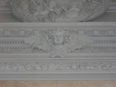 Domaine du château - Château de Réveillon (Marne, France), chapelle: sculpture d'ange du retable