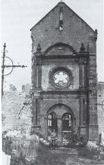 Eglise - English: vue de Sommepy-Tahure autour de la Première Guerre mondiale.