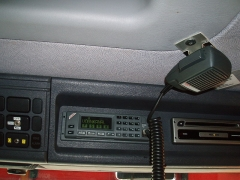 Eglise - English: Ascom SE 660 radio tranceiver placed in Danish fire truck. II is used a function key with numbers to send vehicle's status to control centre. The microphone is attached to the ceiling and can easily be taken down for talking. The microphone unit also has a built-in speaker.