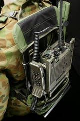 Eglise - English: Barrett 2080 VHF brigade radio