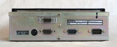 Eglise - Deutsch: Funkmeldesystem-Fahrzeuggerät, RDN BG 333, 1988, Rückseite mit Schnittstellen und Typenschildern, Hersteller: Radiodata)