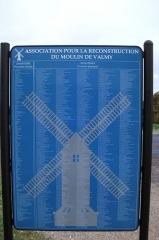 Moulin de Valmy - Français:   liste des souscripteurs ayant permit l\'erection d\'un nouveau moulin après la tempête de 1999.