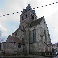 Eglise Saint-Lié - English:  Ville-Dommange city, the church down.