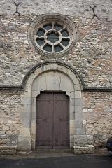 Eglise Saint-Lié - English:  West door of the church Saint Lié.