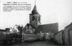 Eglise -  à Vraux l'église st-Laurent au sortir de la Guerre.