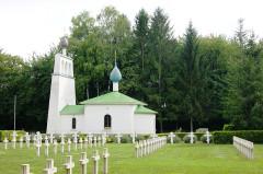 Chapelle orthodoxe russe - Français:   Cimetière militaire russe Saint-Hilaire-le-Grand