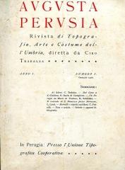 """Enceinte protohistorique dite """"Camp des Louvières"""" - Italiano: Copertina del secondo anno (1907) della rivista Augusta Perusia"""