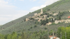 """Enceinte protohistorique dite """"Camp des Louvières"""" - English: Trevi (comune, Italy), an Umbrian hill town in the Province of Trevi, Umbria, Italy."""