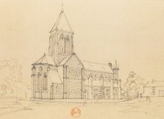 Eglise Notre-Dame - French lithographer and painter