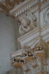 Collège - Français:   chapiteaux de la chapelle des Jésuites à Chaumont.