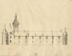 Château de Dinteville -  Aisle du chasteau de Dinteville où est la grande gallerie a droite