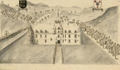 Château de Dinteville -  Le chasteau de Dinteville en Champagne du costé de l'entrée par le Village