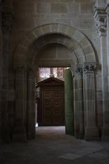 Cathédrale Saint-Mammes - Intérieur de la cathédrale Saint-Mammès de Langres (52). Porte intérieure sud du massif occidental. Revers.