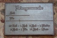 Porte des anciens remparts dite Porte de l'Hôtel de Ville - Deutsch: Alte Maßeinheiten