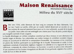 Maison Renaissance - Français:   Panneau informatif